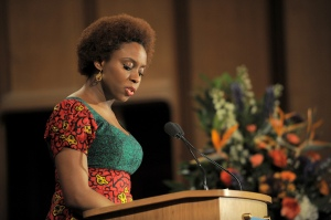 Chimamanda Ngozi Adichie side view